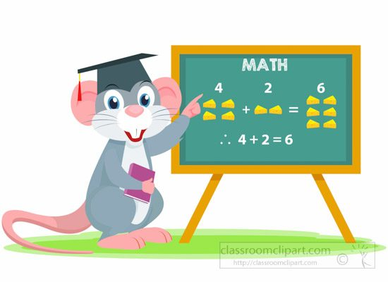 rabbit-character-teaching-math-with-cheese-counting-clipart