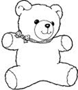 Nursery teddy bear icon