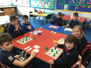 The Wider Achievement pupils from P1-4 playing Colours Bingo. Callum was a great signing bingo caller!