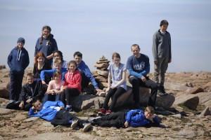 2P8 at Ronas Hill summit