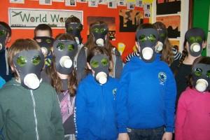 Some gas masks up close!