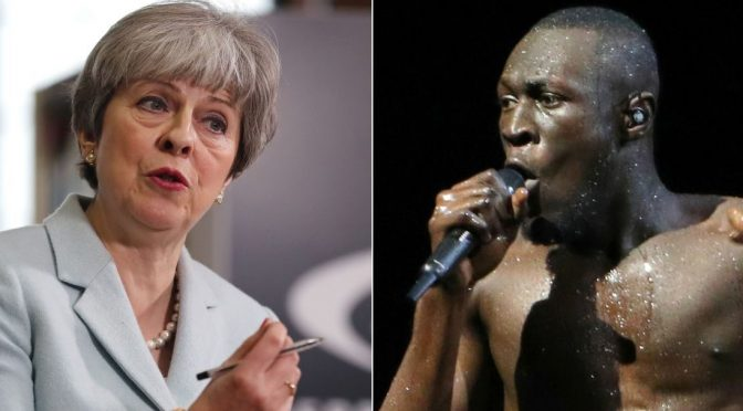 Theresa May receives stormy outburst at Brit Awards