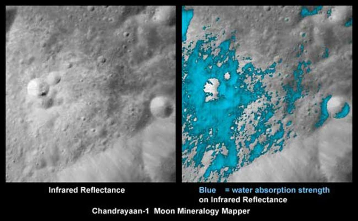Astronomers Discover Polar Ice Caps On Moon