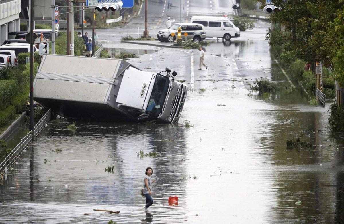 BREAKING: Typhoon Jebi Japan's Strongest in 25 Years