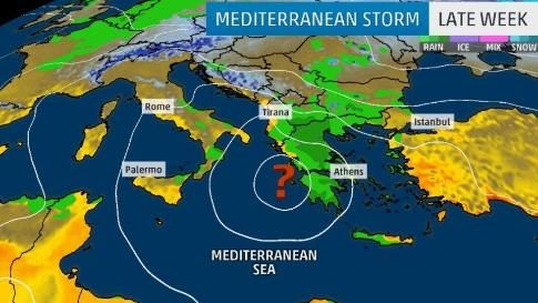 Aftermath of Hurricane in the Mediterranean