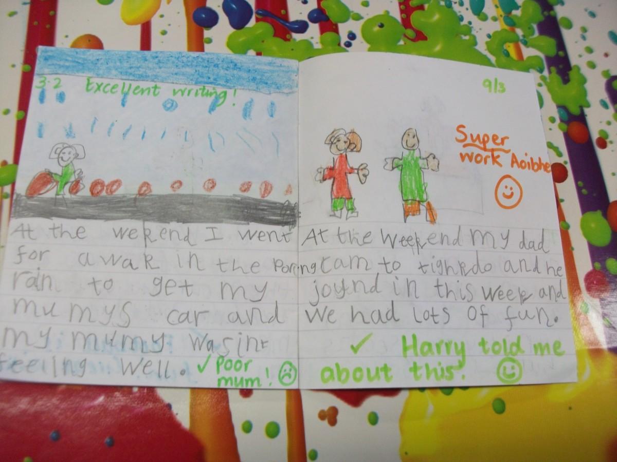 Writing fun in P1 !   St Nicholas Primary School