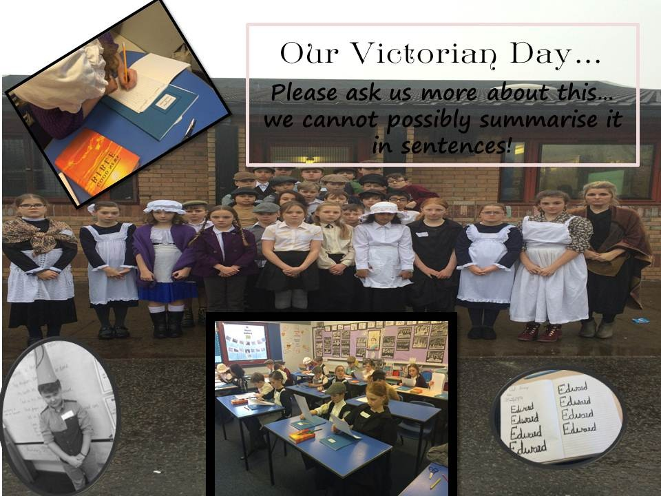 Wow! Have you heard about P6's Victorian Day experiences? Please ask US MORE!